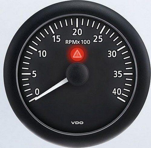 tachometers rpm ac dc marine inc vdo viewline onyx programmable 4 000 rpm tachometer a2c53218722 s