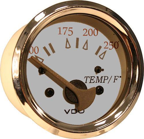 Allentare white/grey 250F water temperature gauge 310-13297
