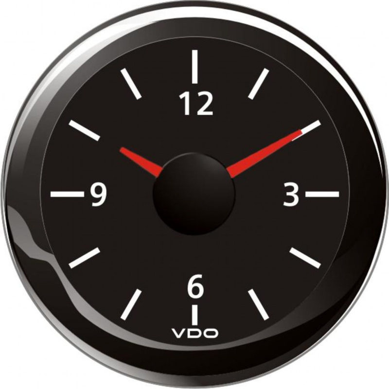 vdo viewline onyx analog clock 12 volts a2c53321687