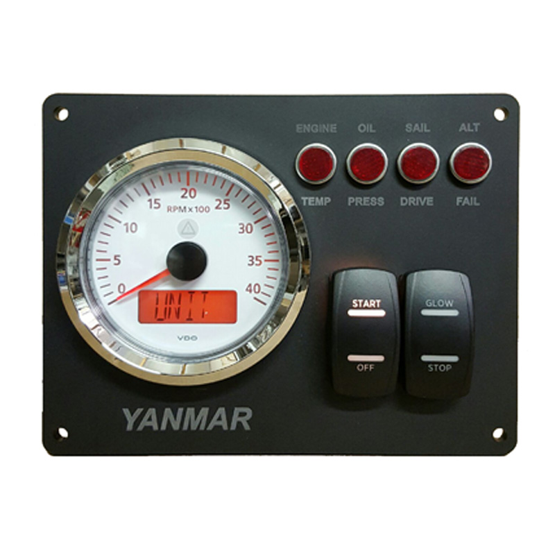 Yanmar B Type Instrument Panel With Vdo Rpm Gauge 7 1 8 X