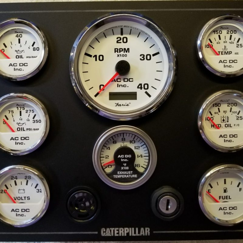 Boat Panel with White Gauges