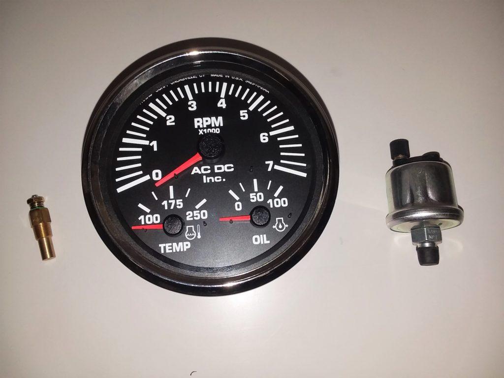 Multi Function Gauge Gasoline Black 7k Tach Gauge Kit
