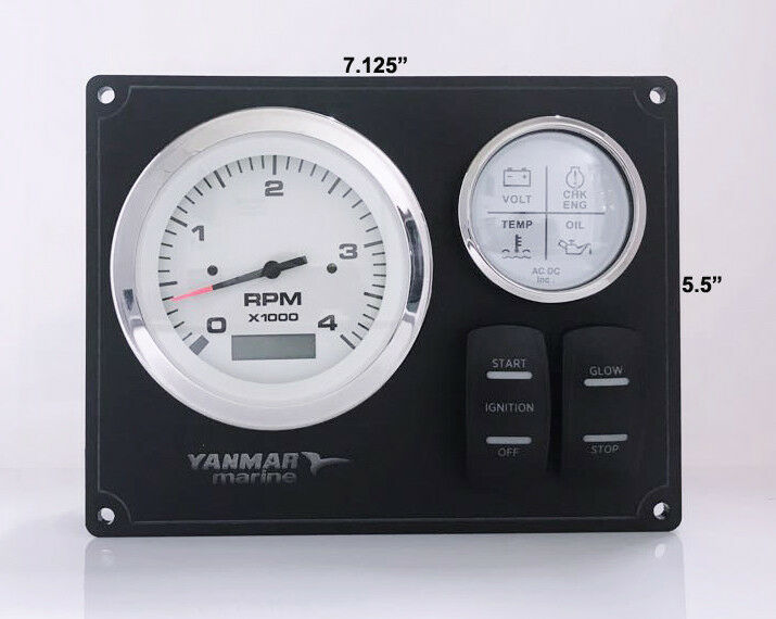 Yanmar Diesel Engine Marine instrument Panel B type USA Made Magnetic Pick  Up 682131757956