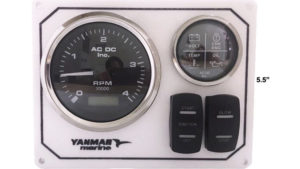 Yanmar Diesel Engine Marine instrument Panel B type USA Made Alternator Pick Up