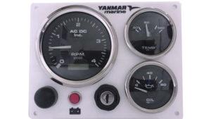 Yanmar Diesel Engine Marine instrument Panel B type USA Made Alternator Pick Up White Black