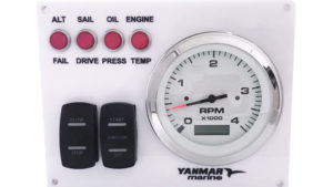 Yanmar Diesel Engine Marine instrument Panel B type USA Made Magnetic Pick Up-wht-1