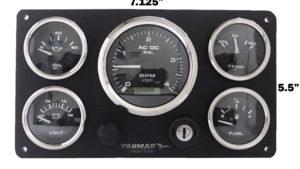Yanmar Engine Marine Instrument Panel Pre Wired USA Made Black