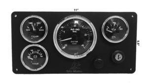 *Beta 4 Gauges Marine Engine Instrument Panel
