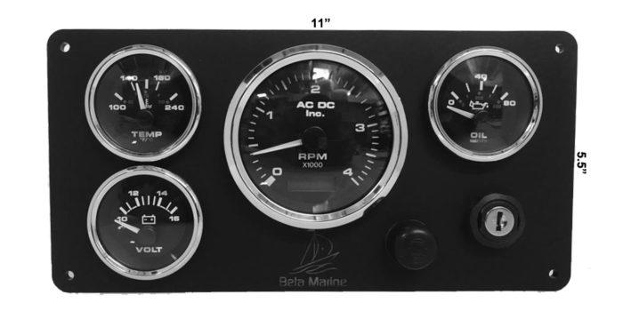 *Beta 4 Gauges Marine Engine Instrument Panel