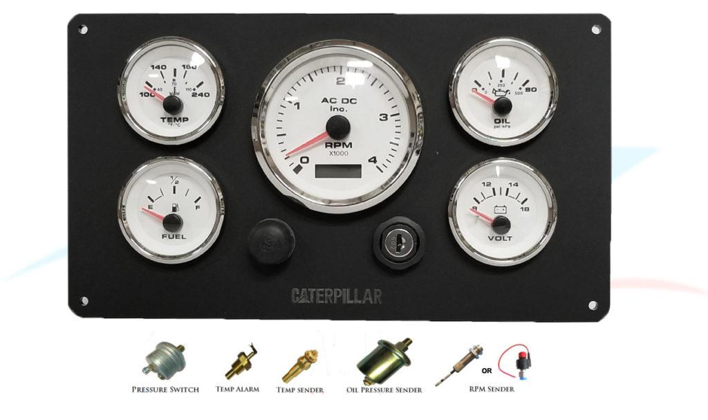 Caterpillar 3126 Marine Engine Instruments Panel, Fully Wired 100%,USA Made  #KIT