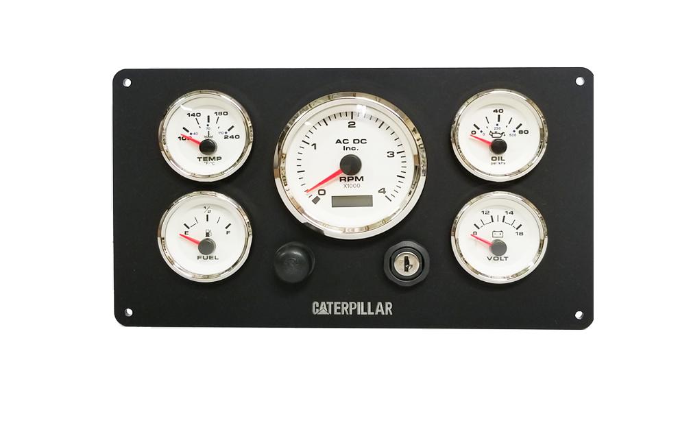 Caterpillar 3126 Marine Engine Instruments Panel  Fully