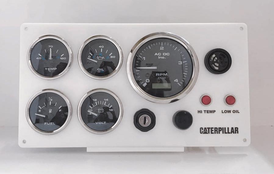 5 Gauges Caterpillar Diesel Engine Marine Instrument Panel
