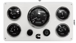 4000 RPM Programmable Cummins Marine Diesel Engine Instrument Panel BW