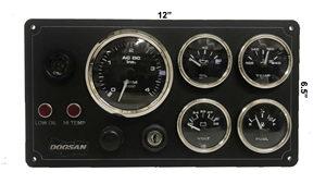 Doosan Diesel Engine Marine Instrument Panel 5 Gauges Black