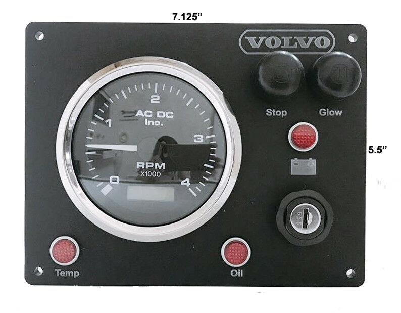 Volvo Engine Marine Instrument Panel B type-Alternator Pick UpUSA Made/  Fully wired Ready