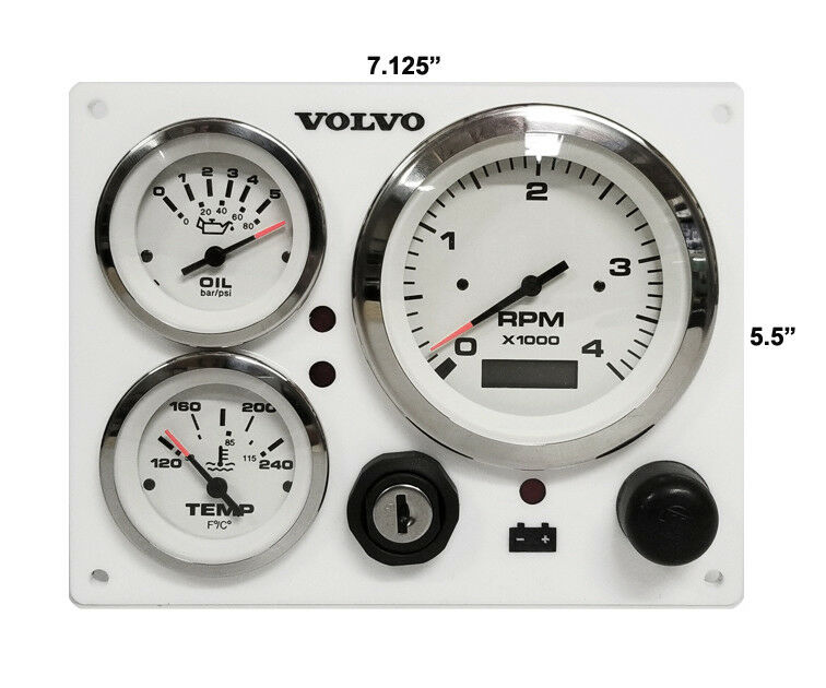 Volvo penta 3 gauges Engine Marine instrument Panel B type