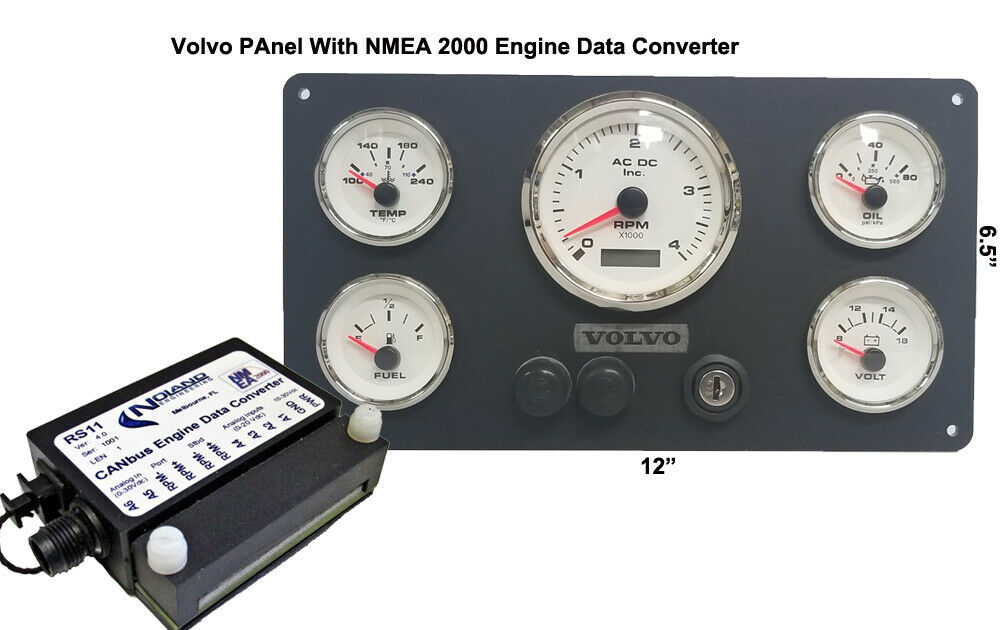**VOLVO Marine Engine Instrument Panel With NMEA 2000 Engine Data Converter