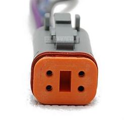 4 Pin Deutsch 4 Wire /Male Boat Gauge Plug Wiring Connector  Wire Connector Plug on