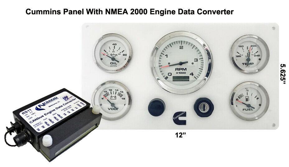 **Cummins Marine Instrument Panel NMEA 2000 Engine Data Converter Package  White