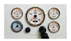 White CAT Panel with Turbo Boose Gauge